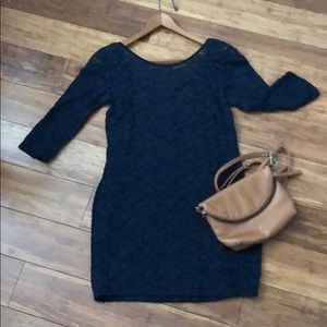 Bodycon navy dress